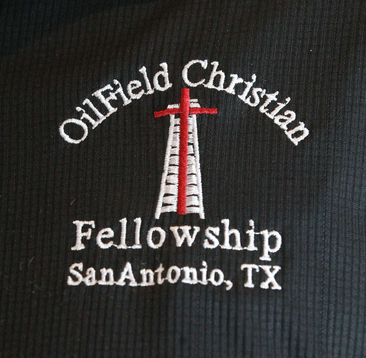 This is the insignia of the local Oilfield Christian Fellowship.