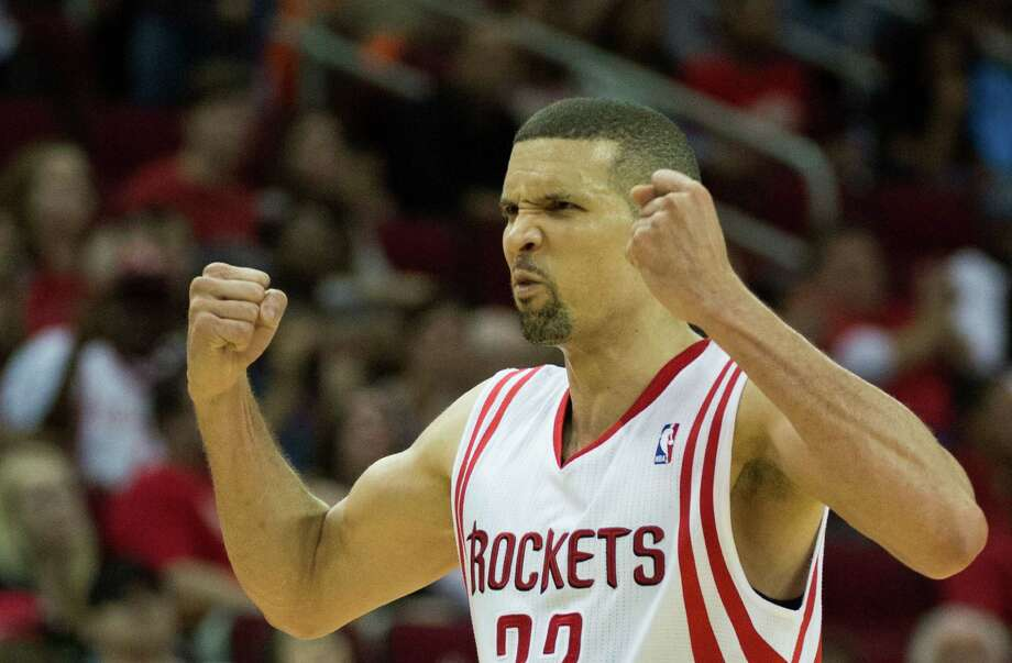 March 30: Rockets 98, Clippers 81Rockets shooting guard Francisco Garcia flexes his muscles in celebration during the second half. Garcia scored 15 points in the game. Photo: Smiley N. Pool, Houston Chronicle / © 2013  Houston Chronicle