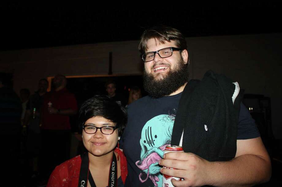 Art lovers take in the sights at Art Slam at the White Rabbit on Saturday night, March 30, 2013. Photo: Libby Castillo, For MySA.com