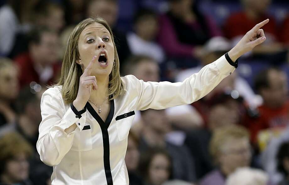 California head coach Lindsay Gottlieb directs her team against LSU in the first half of a regional semifinal game in the NCAA women's college basketball tournament Saturday, March 30, 2013, in Spokane, Wash. (AP Photo/Elaine Thompson) Photo: Elaine Thompson, Associated Press