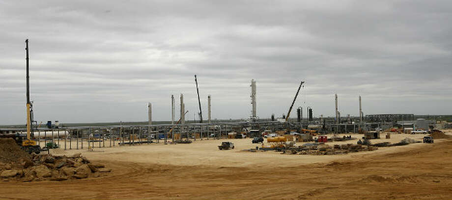 Construction continues at the Anadarko Brasada Gas Plant in La Salle County south of Cotulla on March 27, 2013. The $100 million plant will have a capacity of 200 million cubic feet of natural gas per day.