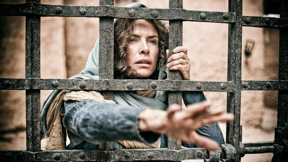 ROMA DOWNEY as Mother Mary in HISTORY's 'THE BIBLE'Photo by Casey Crawford / © Lightworkers Media / Hearst Productions Inc.