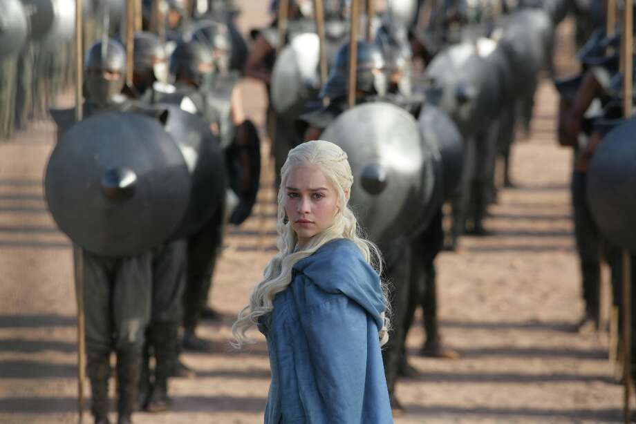 Emilia Clarke plays Daenerys Targaryen, a brilliantly drawn and evolving character in Game of Thrones