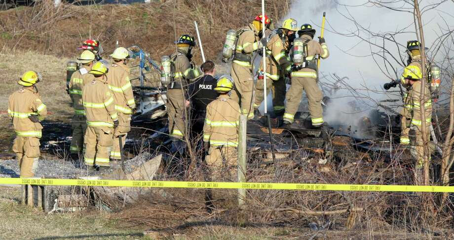 The pilot of an ultralight aircraft was killed when it crashed on takeoff at the Smoketown Airport in Smoketown, Pa., on Saturday. The crash happened around 5:45 under clear skies. The pilot identified by East Lampeter Twp. Police to be an early 30's male was believed to be a member of the Amish church. The Federal Aviation Administration was on the scene investigating the possible cause of the crash. The aircraft was loaded into a trailer and removed from the scene. Photo: AP