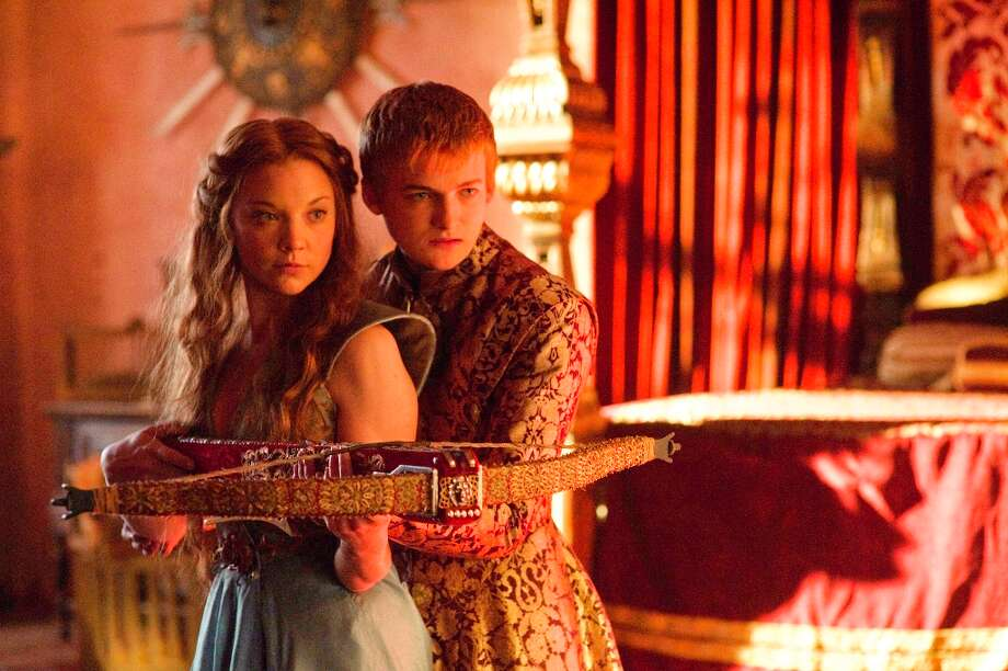 Sadistic young King Joffrey (Jack Gleeson) seems softened somewhat bythe charms of his new future bride, Margaery Tyrell (Natalie Dormer). Photo: HELENSLOAN