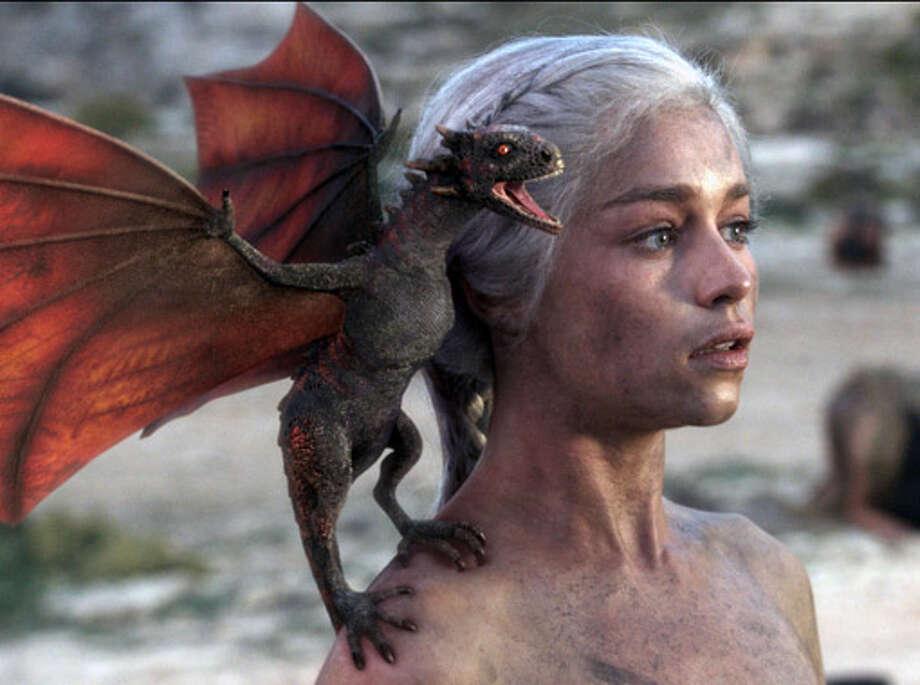 Khaleesi (Emilia Clark) delivers some dragon action in Season 3.