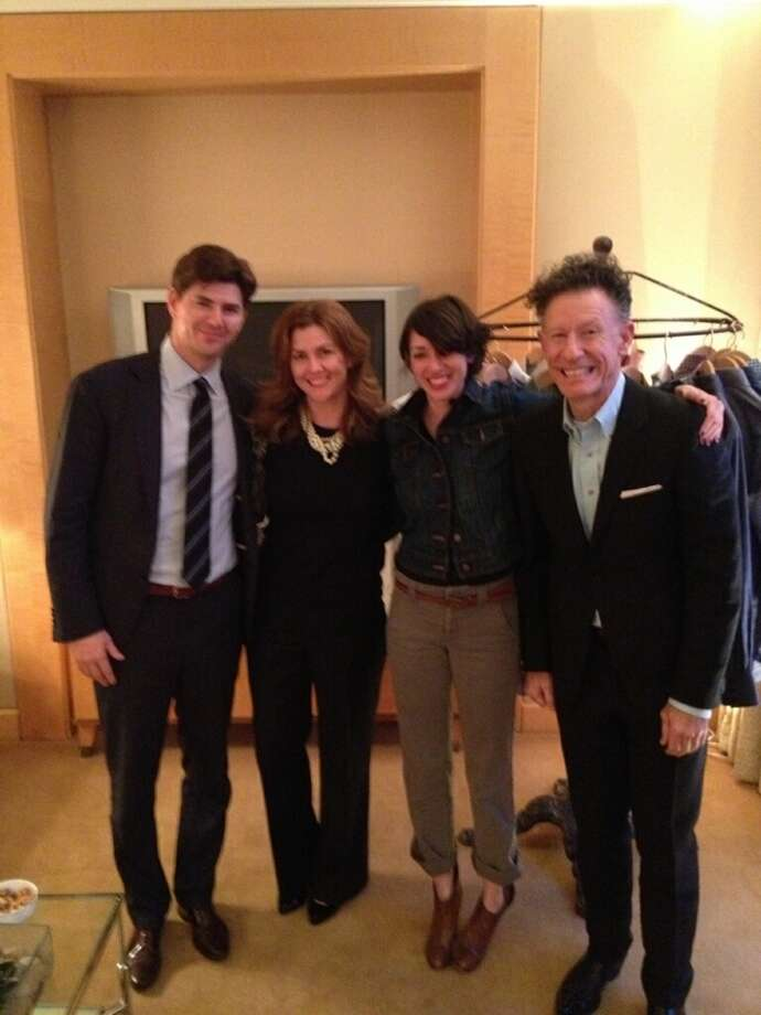 From the left: David Hamilton, Kelly Hamilton, Hamilton Shirts publicist Gail Rubin and Lyle Lovett, photographed in New York.