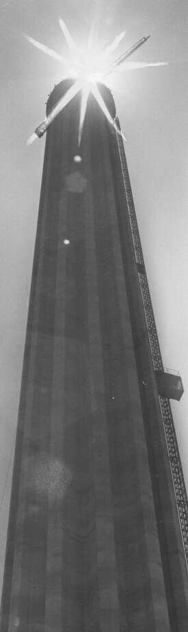 Construction continues at the Tower of the Americas in this undated photo. Photo: San Antonio Express-News File Photo