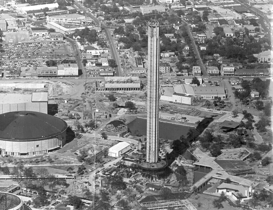 Construction continues on the Tower of the Americas in this undated photo. Photo: San Antonio Express-News File Photo / SAN ANTONIO EXPRESS-NEWS
