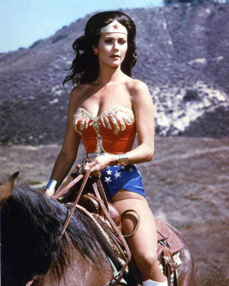 American actress Lynda Carter stars as the titular superhero in the television series 'Wonder Woman', circa 1975. Photo: Silver Screen Collection, Getty Images / 2010 Getty Images