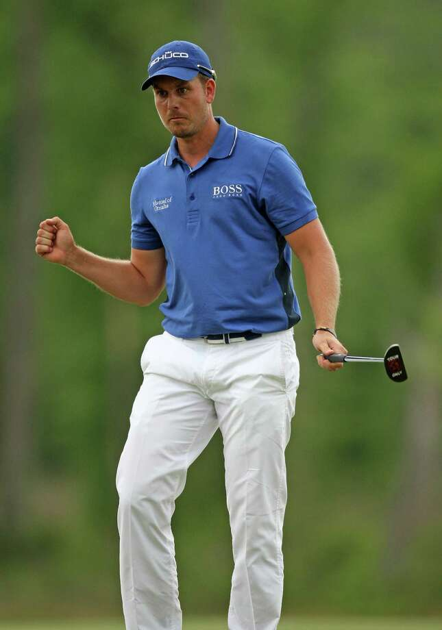 Henrik Stenson celebrates his birdie on No. 16 during the final round of the Shell Houston Open, Sunday, March 31, 2013 at the Redstone Tournament Course in Humble. (Photo: Eric Christian Smith/For the Houston Chronicle) Photo: Eric Christian Smith, For The Chronicle