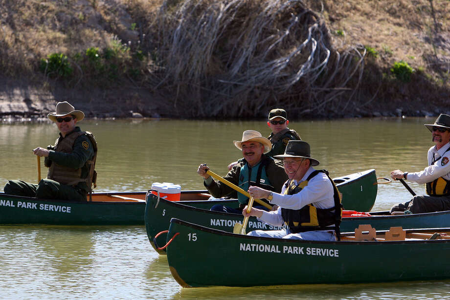 Salazar relishes his time outdoors. In 2010, he and then- Congressman Ciro Rodriguez canoed in Big Bend. Photo: Jennifer Whitney / Special To The San Antonio Express-News