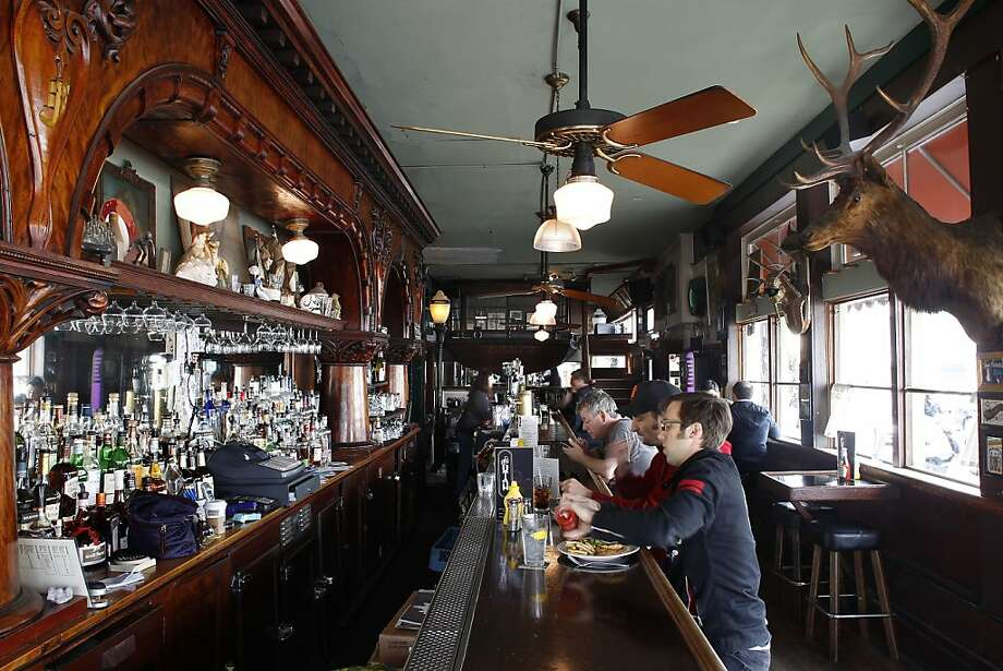 "The Hotel Utah Saloon made the initial list of culturally significant bars by Architectural Heritage, which says the place on Fourth Street once hosted patrons such as ""gamblers, thieves, ladies of the night ... charlatans and police."" Photo: Michael Macor, The Chronicle"