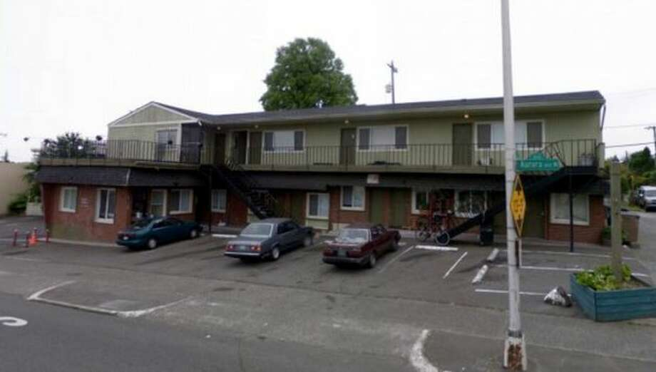 Here's the Italia Motel in 2008, when it was in business and brown.  Photo: King County Department Of Assessments