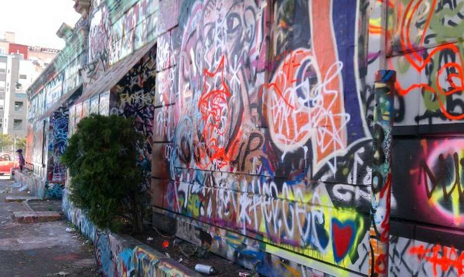 Speaking of graffiti, if you can guess where this wall is, you probably know that it changes all the time. Photo: Amy Rolph