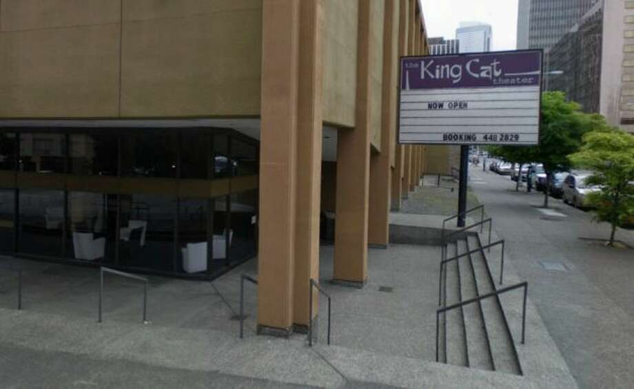 King Cat Theater: Pearl Jam and Nirvana played in this South Lake Union theater, which also played movies in the '70s. It closed in 2012. Next up: Amazon's tall towers.  Photo: Google Street View