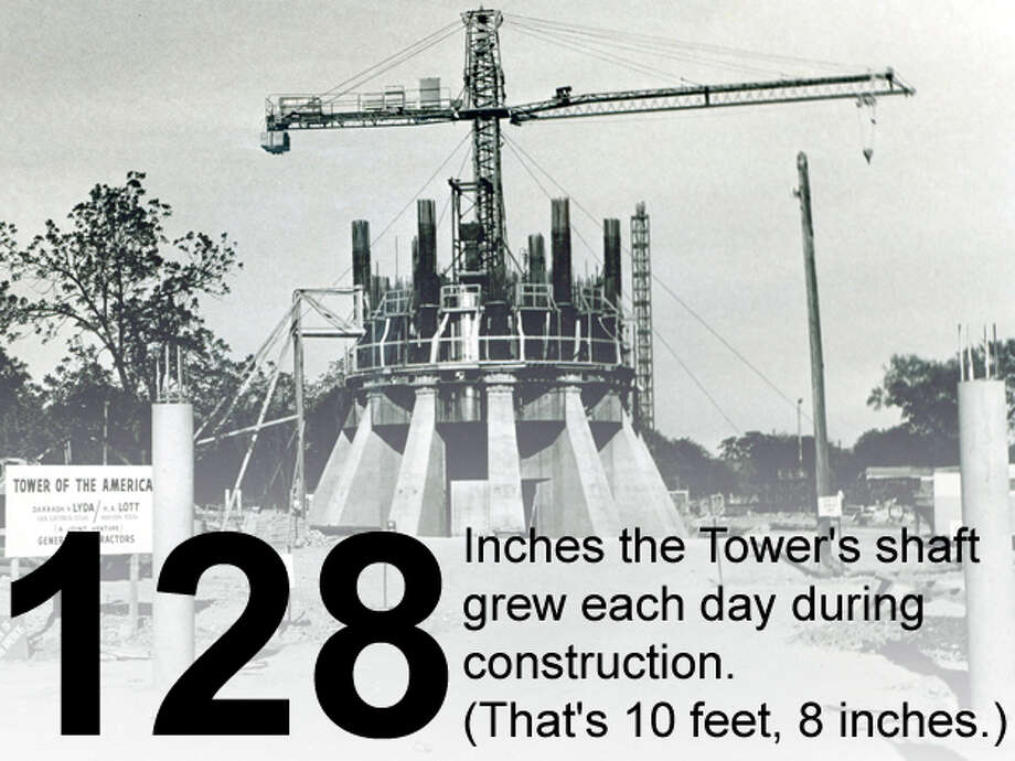 Construction of the base of the Tower of the Americas continues on May 17, 1967. San Antonio Express-News file photo Photo: San Antonio Express-News Photo Illustration