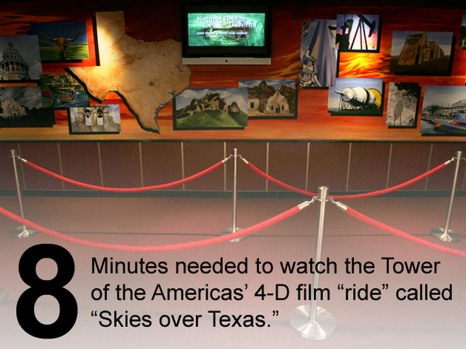 "The entrance area to the 4-D film ""ride"" called ""Skies Over Texas"" at the Tower of the Americas is seen on June 21, 2006. Bob Owen / San Antonio Express-News Photo: San Antonio Express-News Photo Illustration"