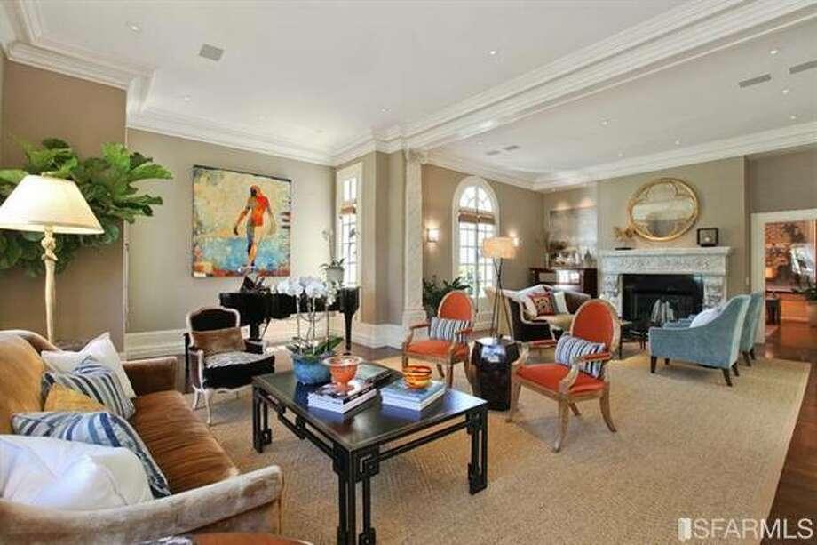 Closer view of living room. Estately via SFMLS / TRI Coldwell Banker