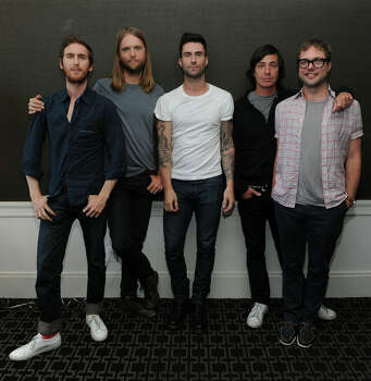 NEW YORK - JULY 01:  Musicians Jesse Carmichael, James Valentine, Adam Levine, Matt Flynn and Michael Madden of the band Maroon 5 attend the VEVO Summer Sets Concert Series at the Empire Hotel on July 1, 2010 in New York City. Photo: Jason Kempin, Getty Images For VEVO / 2010 Getty Images