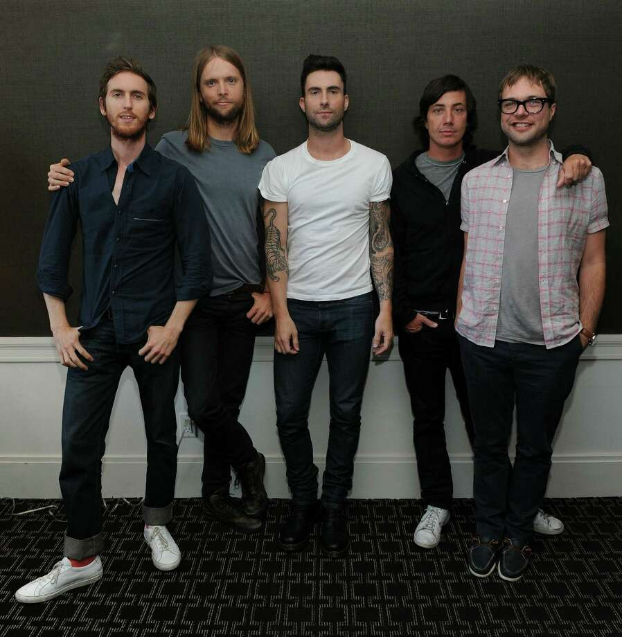 NEW YORK - JULY 01:  Musicians Jesse Carmichael, James Valentine, Adam Levine, Matt Flynn and Michael Madden of the band Maroon 5 attend the VEVO Summer Sets Concert Series at the Empire Hotel on July 1, 2010 in New York City.  (Photo by Jason Kempin/Getty Images for VEVO) Photo: Jason Kempin / 2010 Getty Images