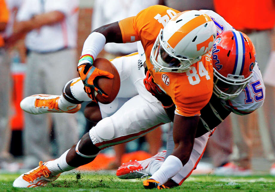 17. Pittsburgh - Cordarrelle Patterson, WR, TennesseeThe replacement for Mike Wallace is raw, but he's an incredible talent. Photo: Wade Payne, Associated Press / FR23601 AP