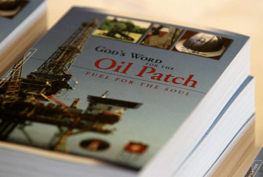 Oilfield Christian Fellowship created this custom bible created, as part of its outreach program to touch the lives of people working in the oil patch and places like the Eagle Ford Shale.