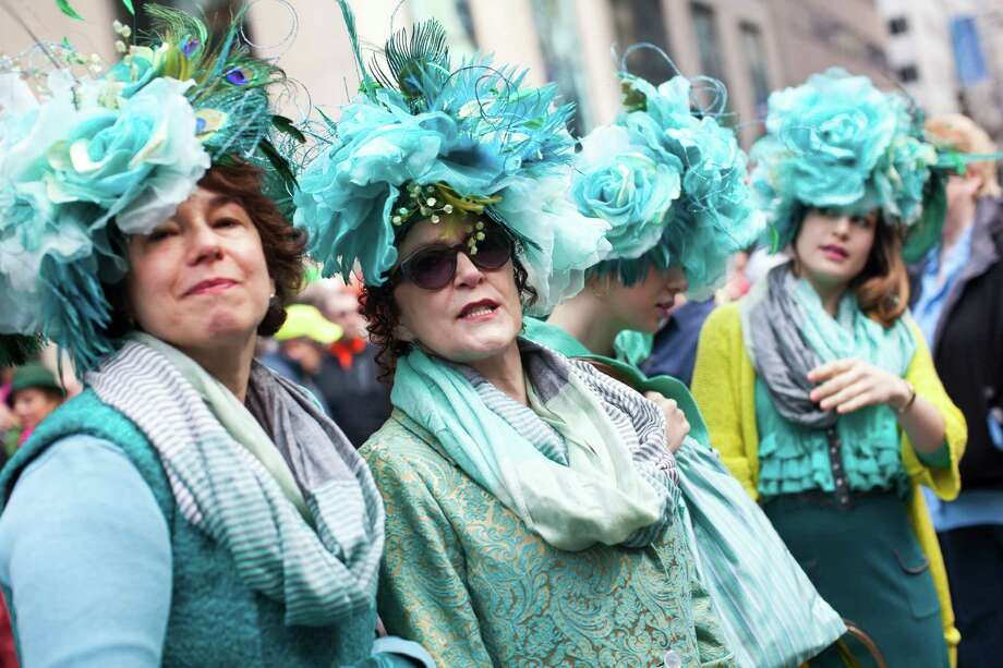 NEW YORK, NY - MARCH 31: Revelers participate during the annual Easter Day procession on 5th Avenue March 31, 2013 in New York City. The annual festivities attracts hundreds of New Yorkers gathering in front of St. Patrick's Cathedral wearing colorful hats and costumes celebrating one of the holiest days in the Christian calendar. Photo: Ramin Talaie, Getty Images / 2013 Getty Images