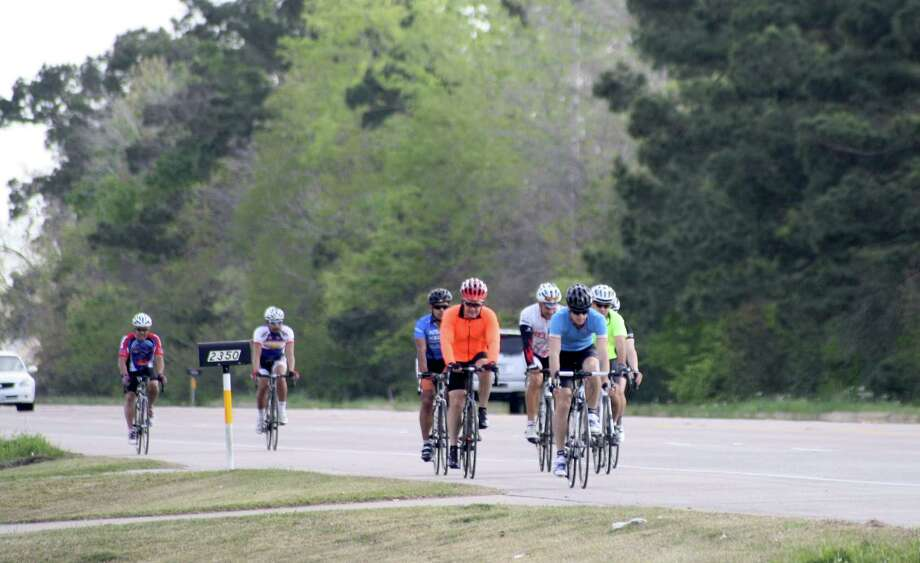 "Beaumont resident Chase Perkins and other cyclists begin their Thursday night ride to Sour Lake. Perkins thinks an underwear bike ride is a good way to get the point across but also thinks involvement of younger residents would really help. ""Parents don't care about things unless their kids are involved,"" he said. Photo: Jose D. Enriquez III"