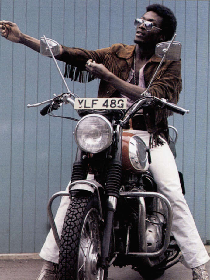 Jimmy Cliff on a motorcycle in the 1970's. Photo: GAB Archive, Redferns / Redferns