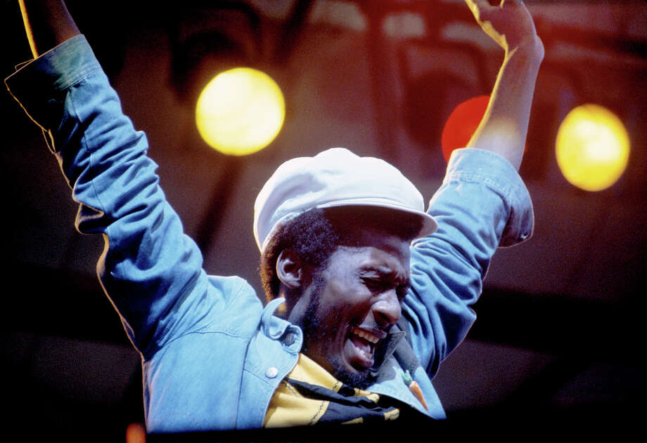 Jimmy Cliff performs live on stage in New York in 1980. Photo: Richard E. Aaron, Redferns / 1980 Richard E. Aaron