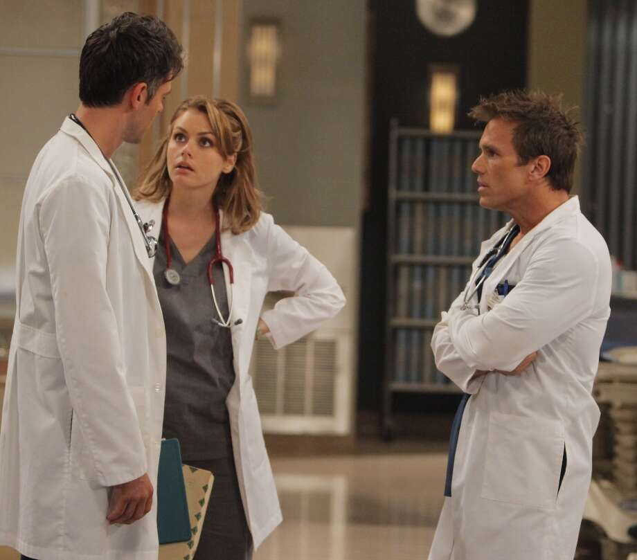 Jason Thompson (Patrick), Brianna Brown (Lisa) and Scott Reeves (Steven) in 2010. Photo: Greg Zabilski, ABC Via Getty Images / 2010 American Broadcasting Companies, Inc.