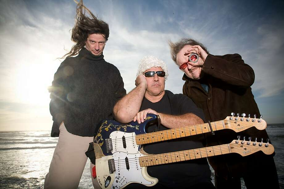 "Mermen, a.k.a. ""the official band of Mavericks,"" is Jim Thomas, Allen Whitman, Martyn Jones. Photo: Courtesy Of The Band"