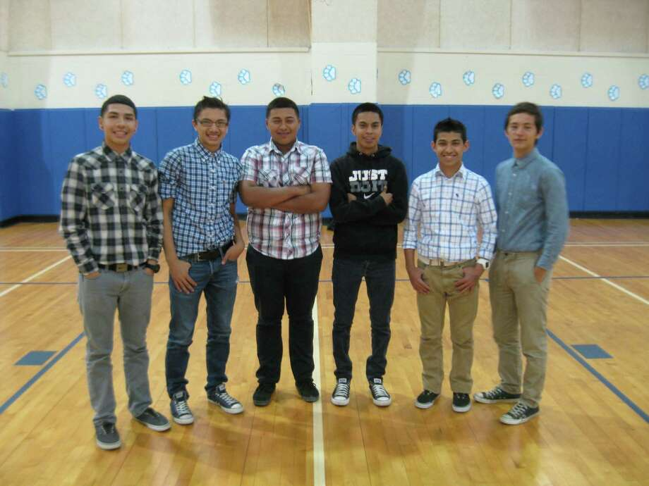 Zamora Middle School eighth-grade basketball team members include from the left Godfrey Mendoza, Leo Guerro, Aaron Bosman, Adrian Garcia, Chris Cardenas and Agent Perez. Photo: Courtesy Photo