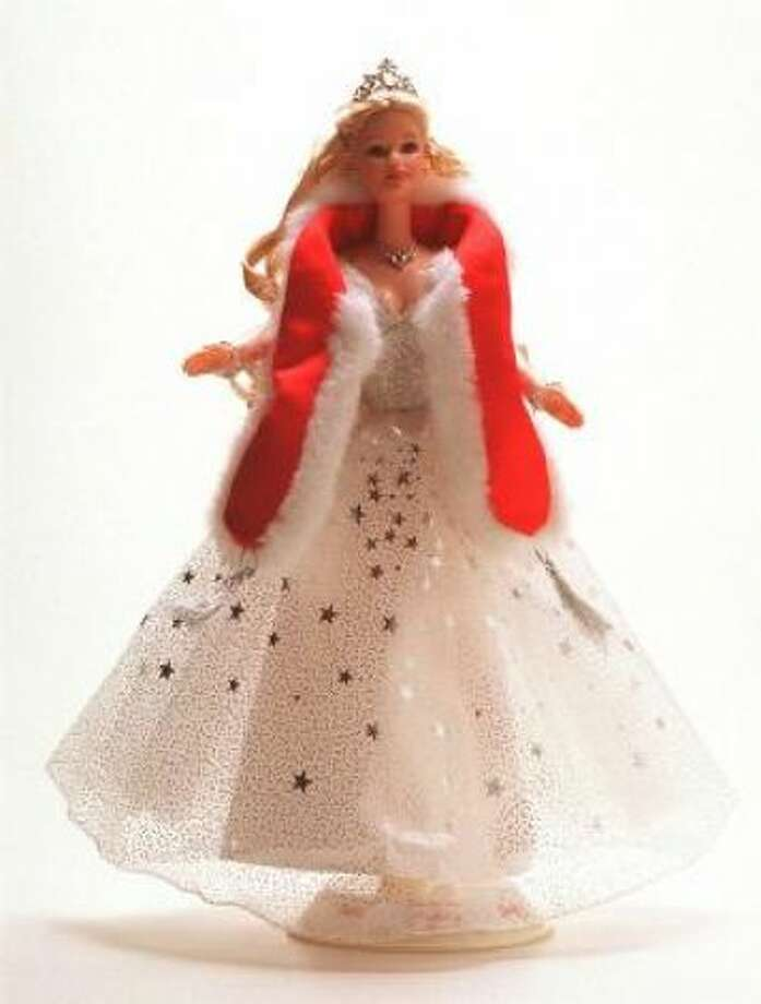 A post-September 11 Barbie was patriotic in red, white and blue.