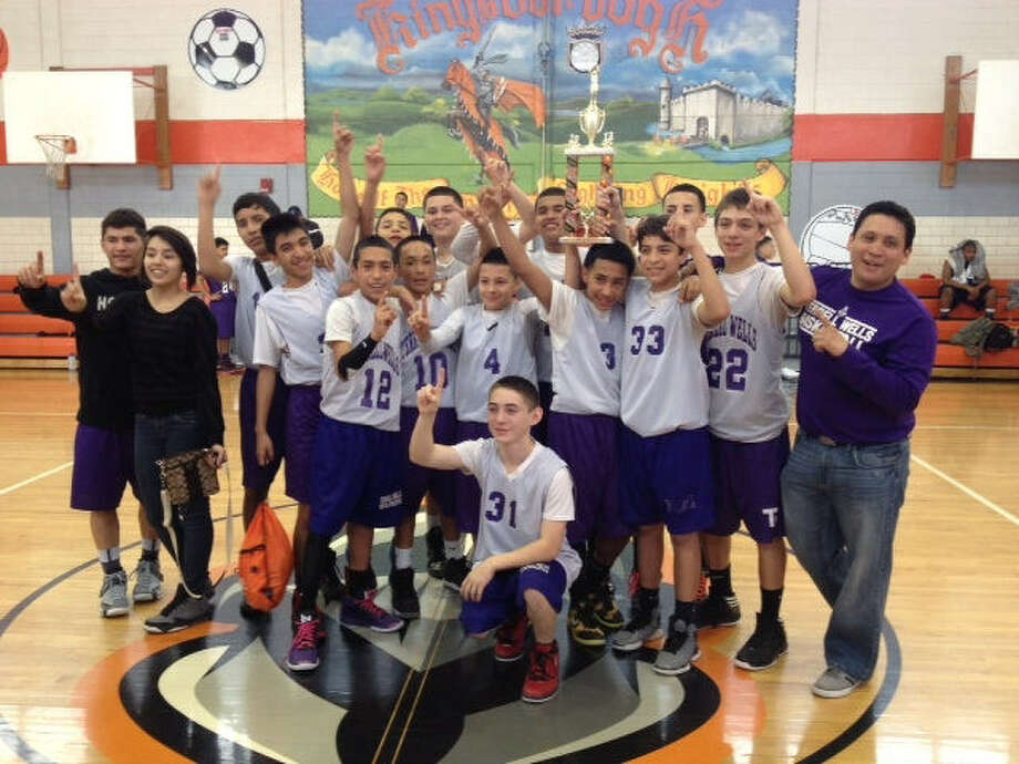 The Terrell Wells Middle School eighth-grade basketball B team finished the season undefeated and won the district championship. Photo: Courtesy Photo