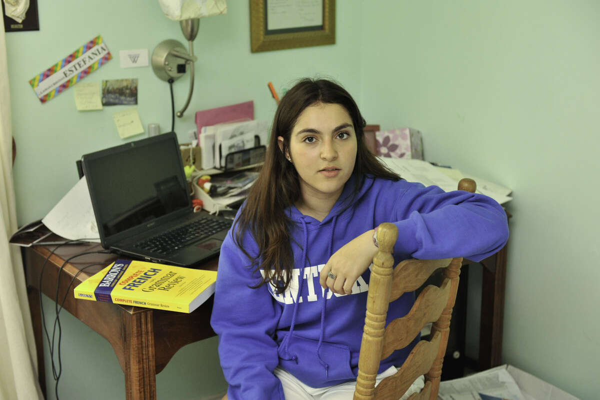 Estefania is among a growing number of Hispanics going farther away to college.