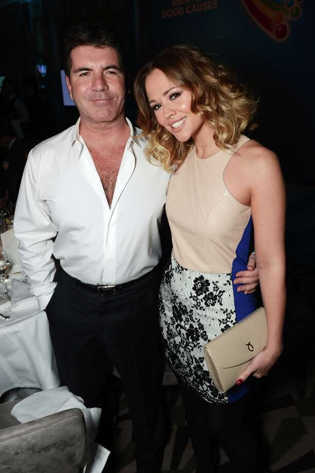 Simon Cowell and Kimberley Walsh attend the Health Lottery champagne tea at Claridges on March 28, 2013 in London, England. Photo: Dave J Hogan, Getty Images / 2013 Dave J Hogan