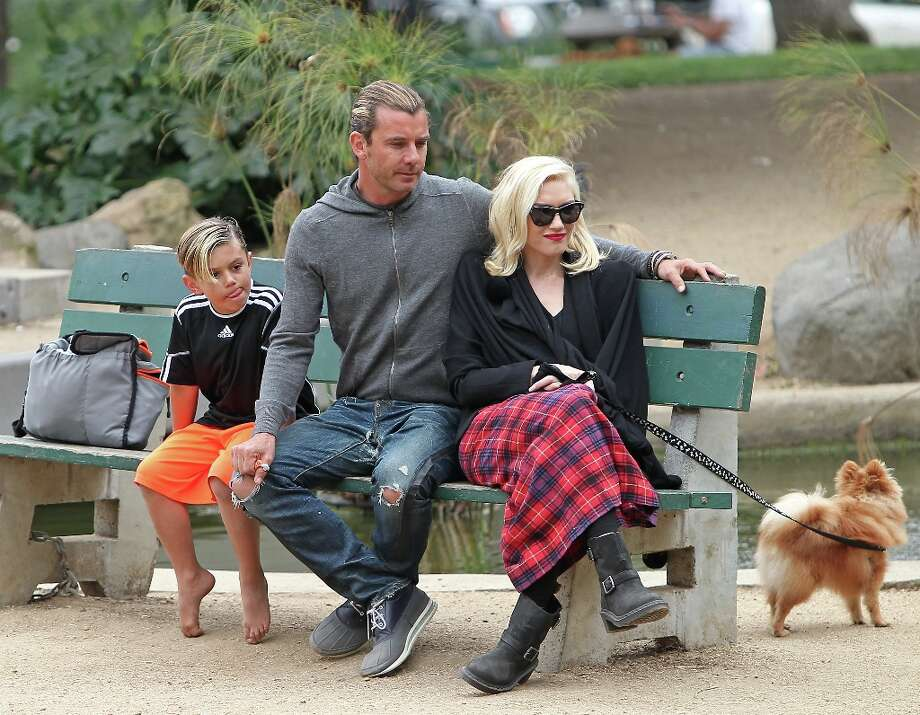 (L-R) Kingston Rossdale, Gavin Rossdale and Gwen Stefani are seen on March 30, 2013 in Los Angeles, California. Photo: JB Lacroix, WireImage / 2013 JB Lacroix