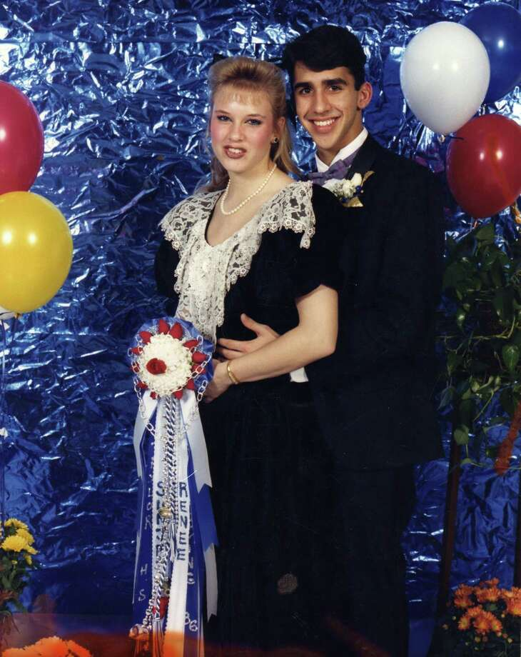 It's prom season, and we want to help you relive your high school moment via the Internet. Please share your prom photos with us and we'll add them to this gallery. We'll start off with a famous face (although this one is not from prom) - Renee Zellweger and her date, Sunjay Arya, at Katy Taylor High School's Homecoming in 1986.  Photo: Submitted Photos