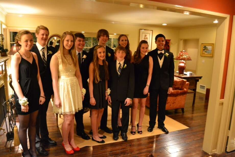 David Harvey, 15, at far right, with his date, Julia McMullen. Mayfield Senior Girls' prom, Maranatha High School, Pasadena, Calif. Submitted by Randy Harvey.  Photo: Submitted Photos