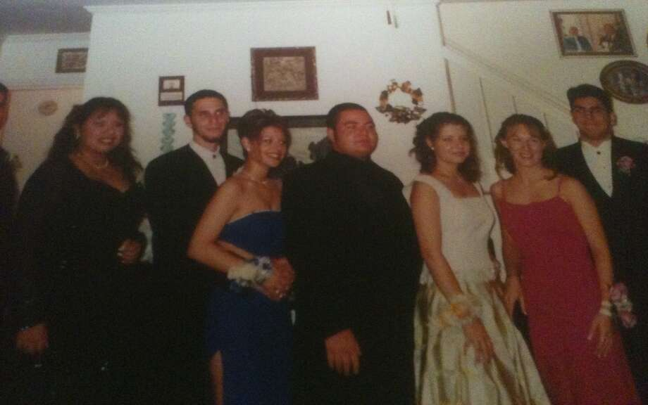 Mike Damante (far right) Stratford High School, in Houston, 2000. Photo: Submitted Photos