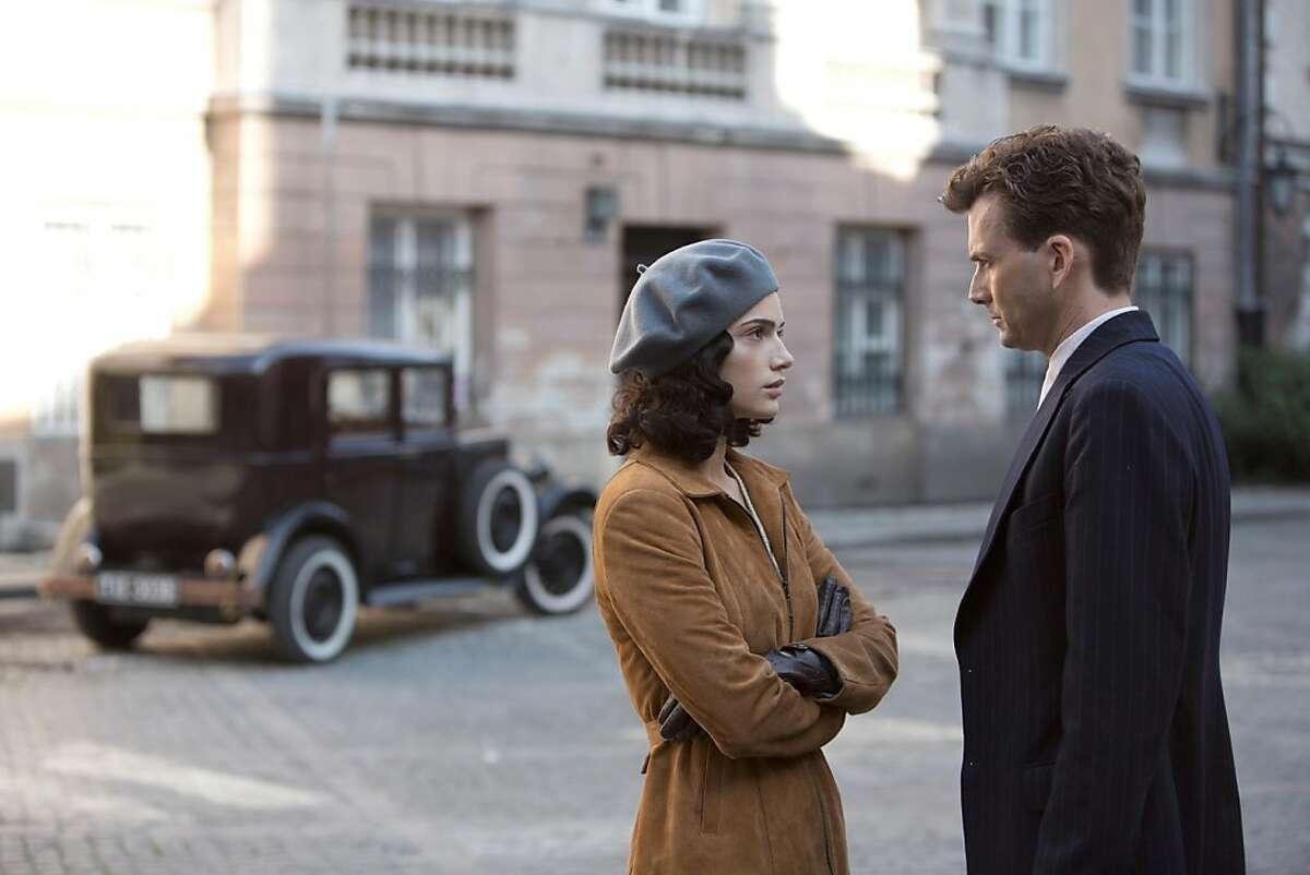 JANET MONTGOMERY as Anna & DAVID TENNANT as Mercier in,