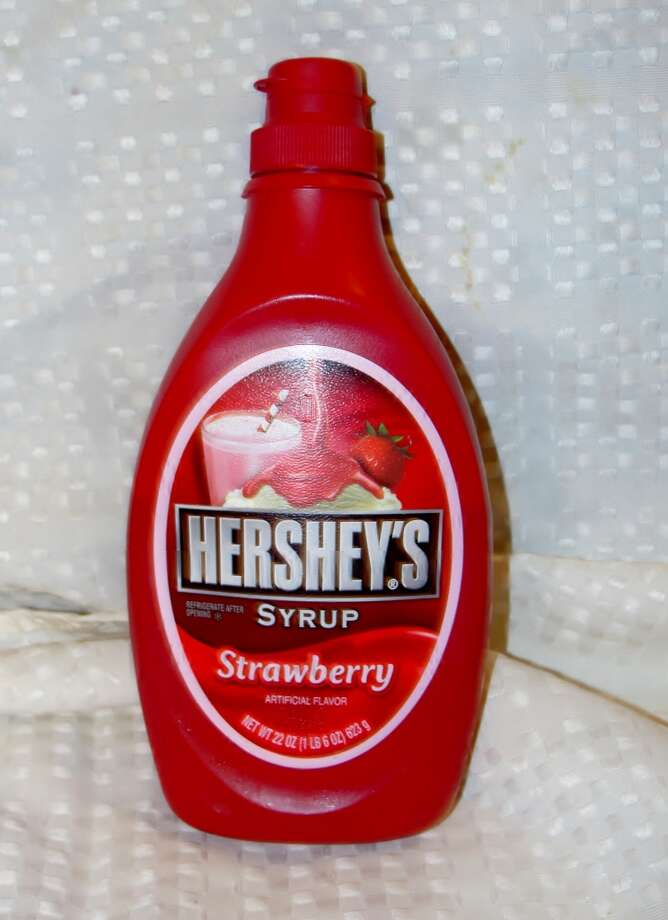 Strawberry syrup has HFCS in it. Photo by Amanda Pellegrin.