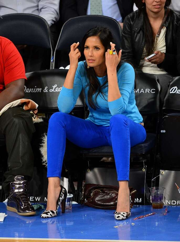 Padma Lakshmi attend the Memphis Grizzlies vs New York Knicks game at Madison Square Garden on March 27, 2013 in New York City. Photo: James Devaney, WireImage / 2013 James Devaney