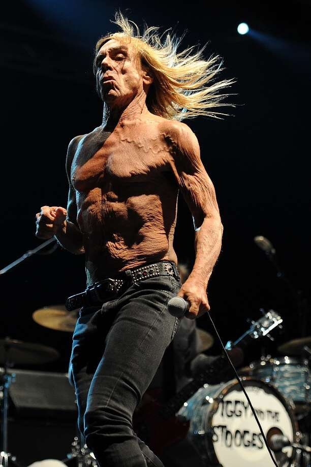 Fresh (?) off his SXSW appearance, Iggy Pop performs on stage with his band Iggy and the Stooges at Bluesfest Byron Bay 2013 - Day 3 on March 30, 2013 in Byron Bay, Australia. Photo: Matt Roberts, Getty Images / 2013 Getty Images