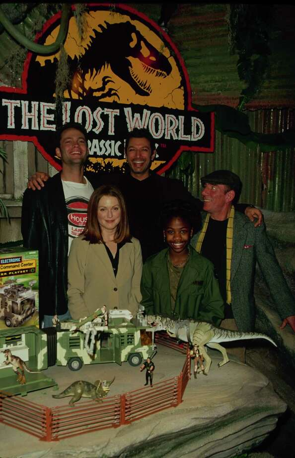 Actors Jeff Goldblum, Vince Vaughn, Julianne Moore, Pete Postlethwaite and  Vanessa Lee Chester at a 'The Lost World: Jurassic Park' event. Photo: Time & Life Pictures, Time Life Pictures/Getty Images / Time & Life Pictures