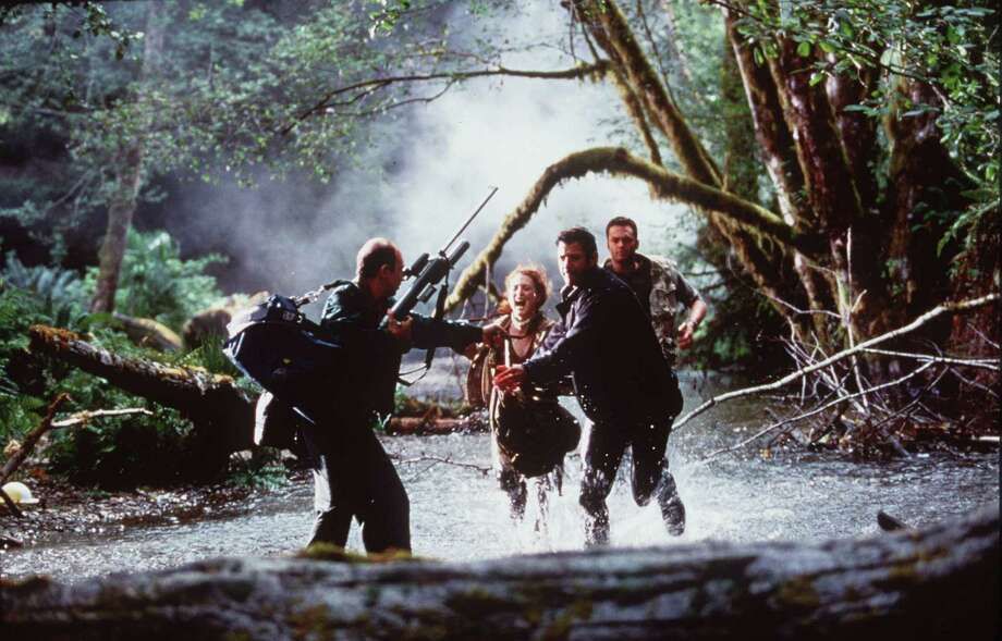 Jeff Goldblum, Richard Schiff, Julianne Moore and Vince Vaughn In 'The Lost World: Jurassic Park.' Photo: Getty Images / Getty Images North America
