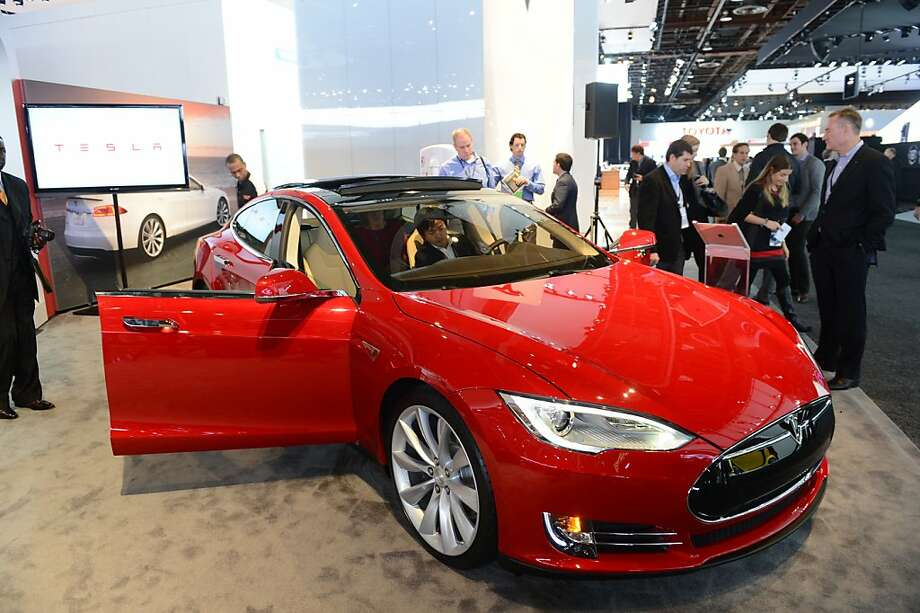 The Tesla Model S, Motor Trend Car of the Year is introduced at the 2013 North American International Auto Show in Detroit, Michigan, in this file photo. Photo: Stan Honda, AFP/Getty Images