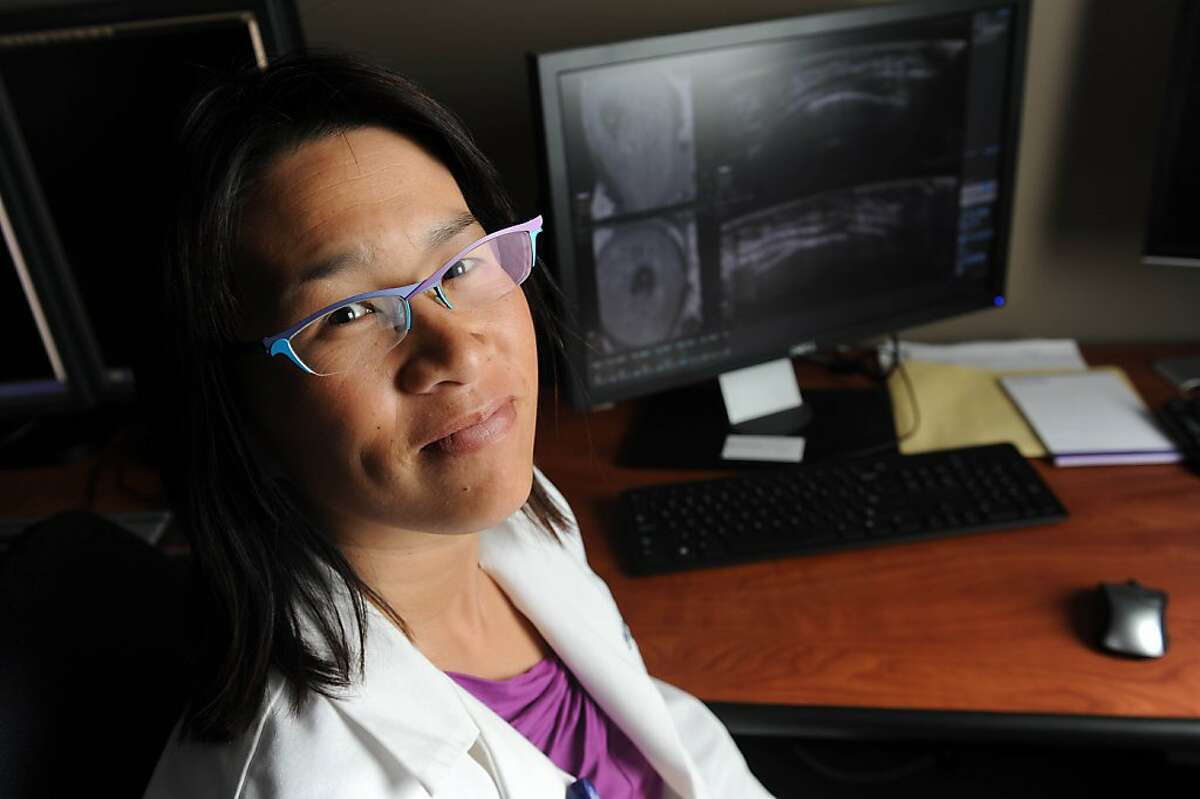 Kristina Jong M.D., a radiologist specializing in breast imaging, poses for a photo in the radiology reading room at El Camino Hospital on March 29, 2013.